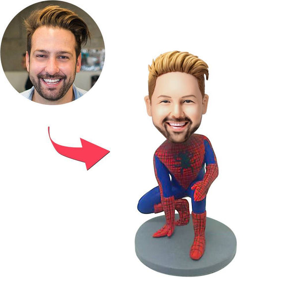 AU Sales-Custom Spiderman Popular Bobbleheads With Engraved Text