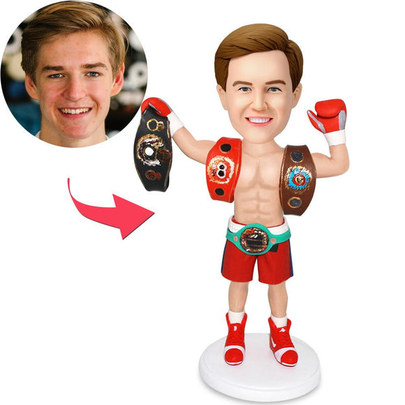AU Sales-Custom The Boxing King Bobbleheads With Engraved Text