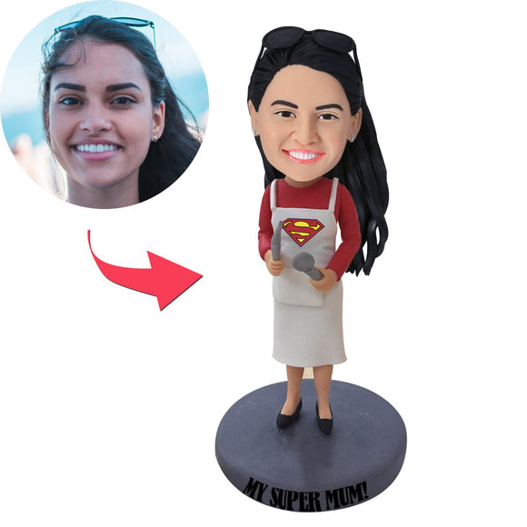 AU Sales-Custom My Super Mom Bobbleheads