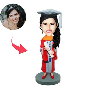 AU Sales-Custom Graduation A Bobbleheads With Engraved Text