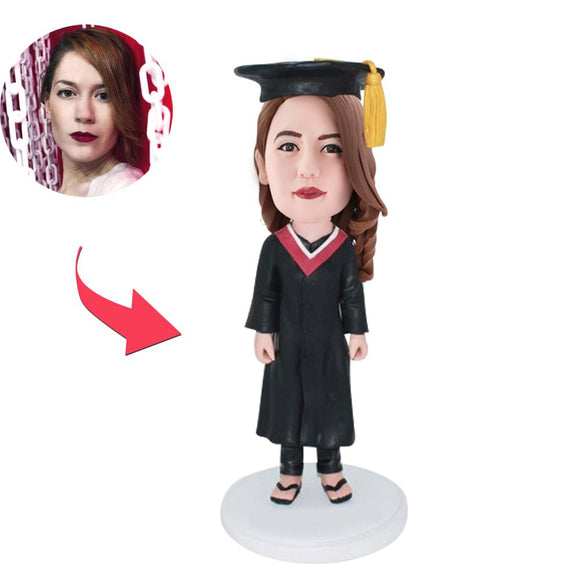 AU Sales-Custom Graduation B Bobbleheads With Engraved Text