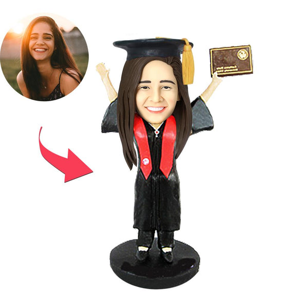 AU Sales-Custom Graduation C Bobbleheads With Engraved Text