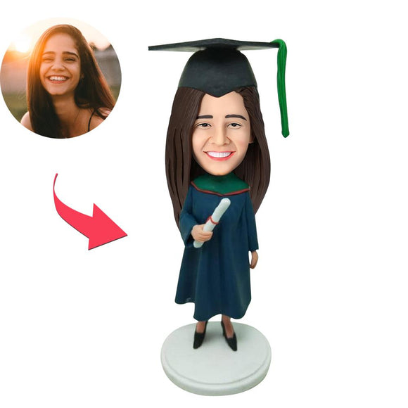 AU Sales-Custom Graduation E Bobbleheads With Engraved Text