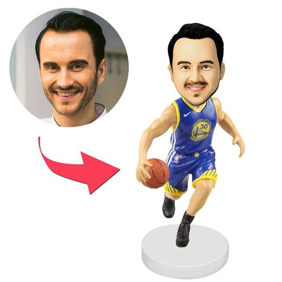 AU Sales-Custom Golden State Warriors Basketball Player Bobbleheads With Engraved Text