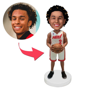 AU Sales-Custom Miami Heat Basketball Player Bobbleheads