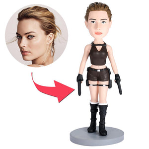 AU Sales-Custom Tomb Raider Bobbleheads With Engraved Text