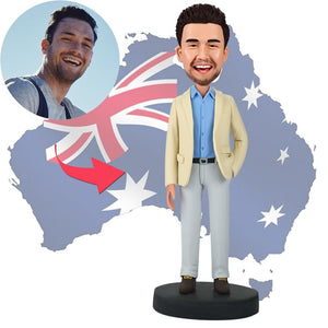 AU Sales-Custom Businessman With Hand In Pocket Bobbleheads
