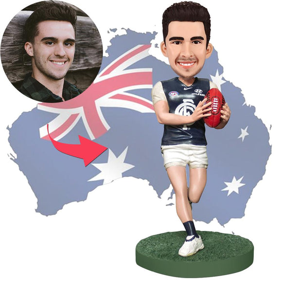 AU Sales-Custom AFL Football Player Bobbleheads With Engraved Text