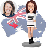 AU Sales-Custom Modern Woman In Leisure Wear Bobbleheads