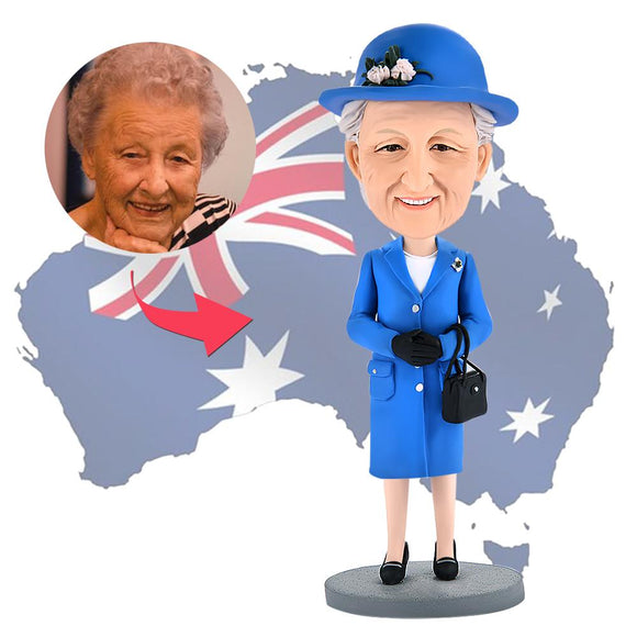AU Sales-Custom Queen Of England Bobbleheads