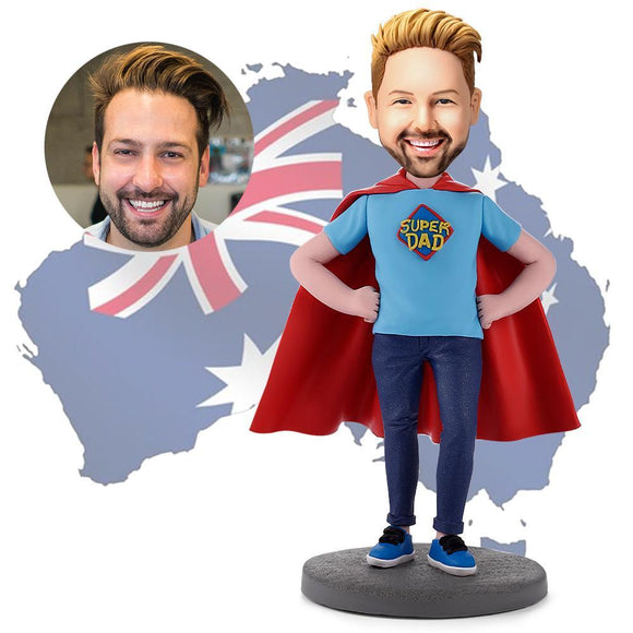AU Sales-Custom Super Dad Bobbleheads