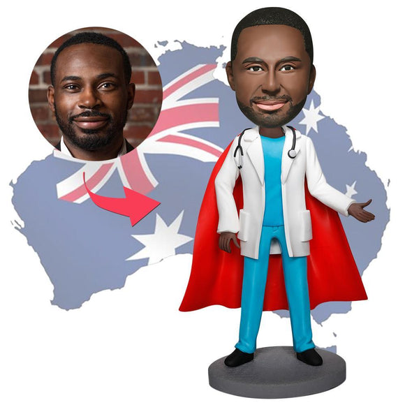 AU Sales-Custom Super Doctor With Stethoscope Bobbleheads