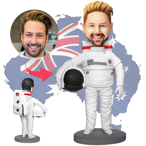 AU Sales-Custom Astronaut Bobbleheads With Engraved Text