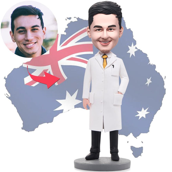AU Sales-Custom Wise Man In Lab Coat Bobbleheads