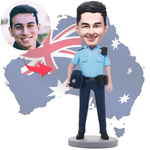 AU Sales-Custom Male Police Officer Bobbleheads