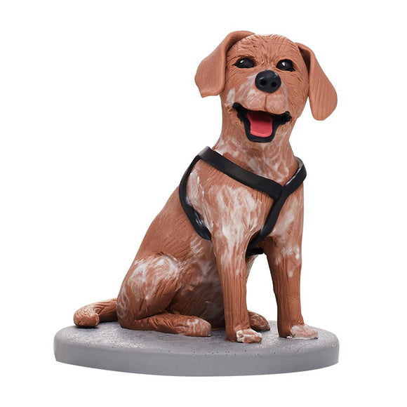 AU Sales-Custom Fully Customizable 1 Animal/Pet Bobbleheads With Engraved Text