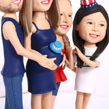 AU Sales-Custom Fully Customizable 4 person Bobbleheads