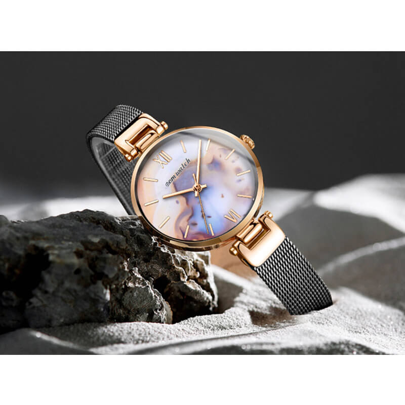 {Lady gift}-{Agate Texture Women watch}-No.1286