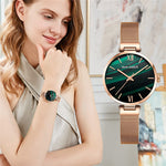 Load image into Gallery viewer, Green Dial women watch