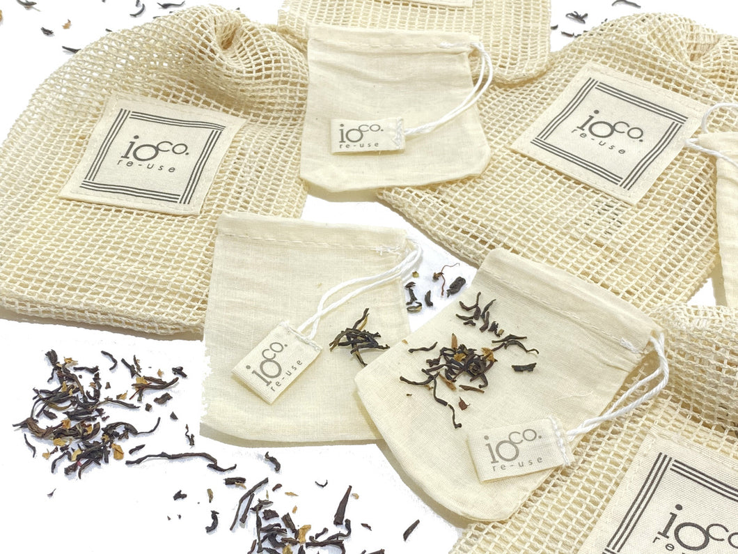 IOco Natural Cotton Tea Bags (Set of 4)