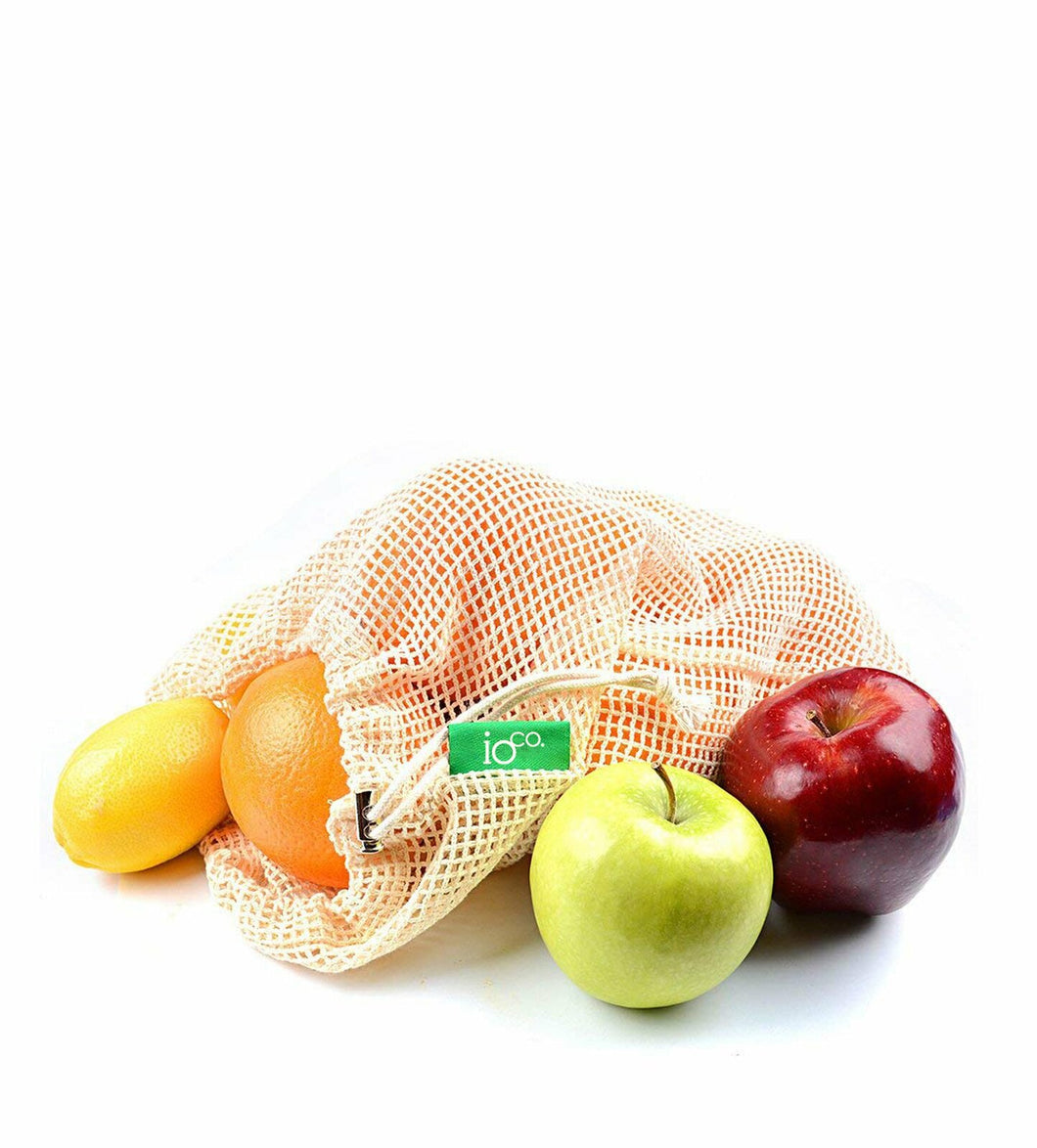 IOco Natural Unbleached Cotton Food Bags - 6 pack