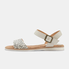 Load image into Gallery viewer, Rollie Sandal Snow Leopard White