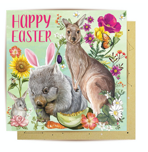Greeting Card Secret Garden Easter