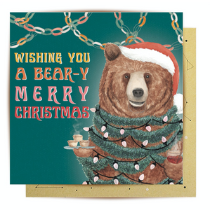 Greeting Card Beary Merry Christmas