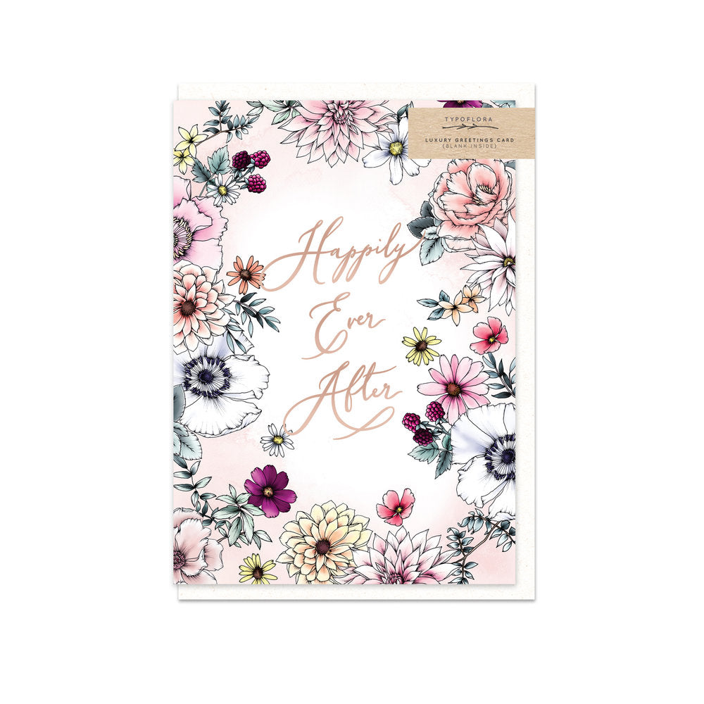 Botanical Happily Ever After Card