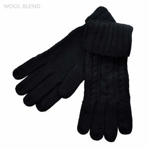 Braid Knitted Gloves & Open Finger Gloves
