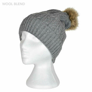 Braid Knitted Beanie Assorted Colours
