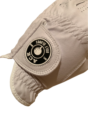 Players Leather Glove White