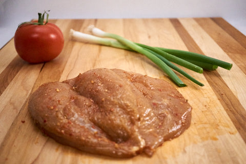 Butterflied BBQ Chicken Breasts ($26.99/kg) NOW ($19.99/kg)