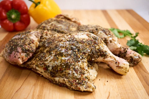 Whole Italian Butterflied Chicken ($16.99/kg) NOW ($12.99/kg)
