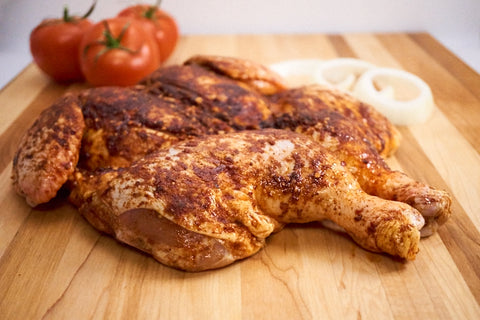 Whole BBQ Butterflied Chicken ($16.99/kg) NOW ($12.99/kg)