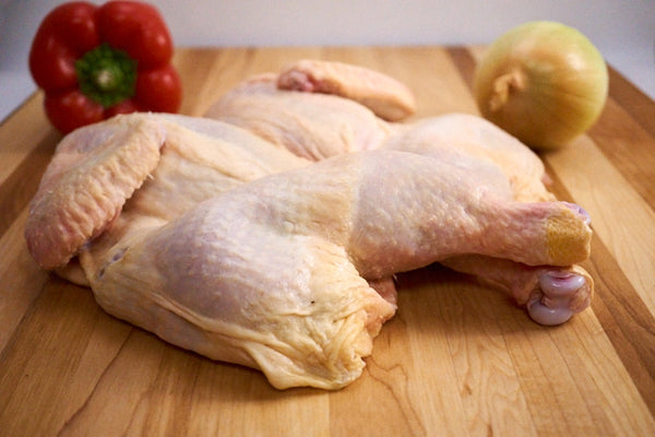 Whole Plain Butterflied Chicken ($13.99/kg)