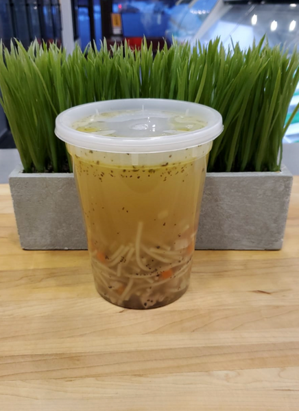 Chicken Noodle Soup ($10.00) NOW ($.750)