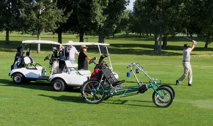 The pedal power golf cart from Lightfoot Cycles.