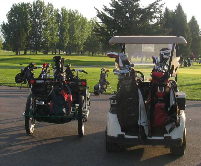 The Lightfoot Golf, a pedal power golf cart.