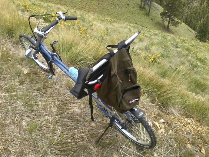 Ranger recumbent bicycle on mountain road.