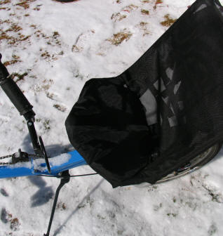 Rain proof recumbent bicycle seat
