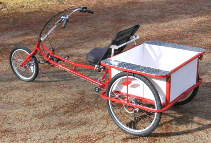 transporter cargo recumbent tricycle