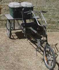A bicycle for recycling cargo.
