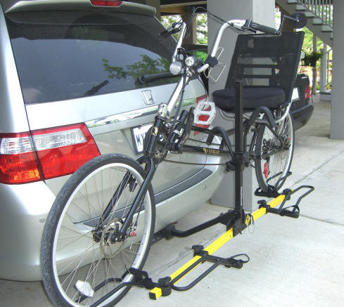 Rack to carry recumbent bicycle