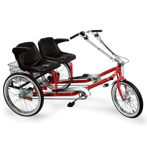 "Worksman Side-by-Side ""Team Dual"" 3-Speed Recumbent Trike-Lightfoot Cycles"