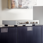 Rotel A10 Integrated Amplifier with Phono Input - Silver - Lifestyle