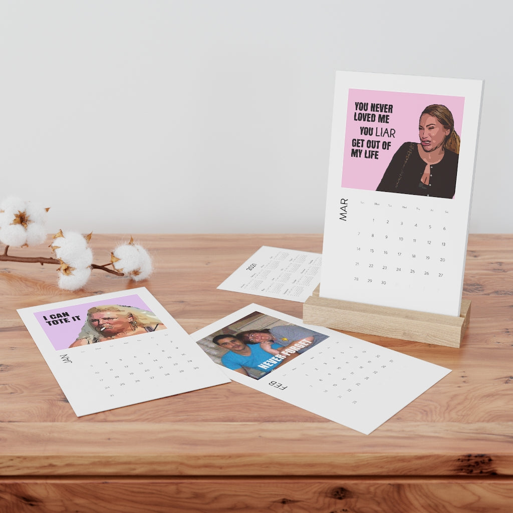 90 Day Fiance Vertical Desk Calendar