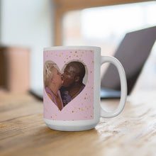 Load image into Gallery viewer, Michael And Angela Heart Ceramic Mug 15oz