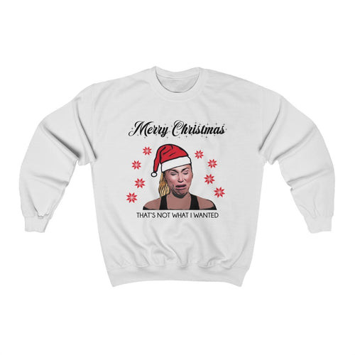 Darcey Crying Xmas White Unisex Heavy Blend™ Crewneck Sweatshirt