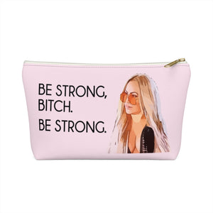 Darcey Be Strong Small Makeup Bag w T-bottom